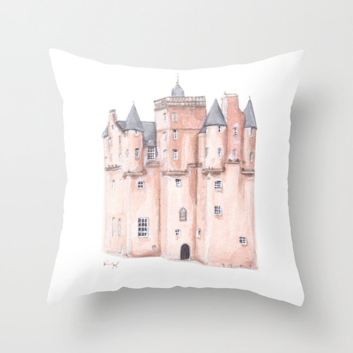 Craigievar Castle, Scotland Throw Pillow