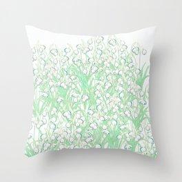 Snowdrop Spring Throw Pillow