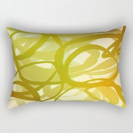 Abstract circling lines red and green  Rectangular Pillow