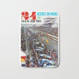 1969 Le Mans poster, Race poster, Car poster, vintage poster Bath Mat