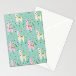 Llama Pattern Stationery Cards