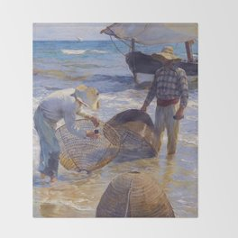 Valencian Fisherman - Joaquín Sorolla  Throw Blanket