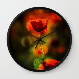 Poppy III. Wall Clock