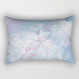 Tutus' in Aqua Rectangular Pillow
