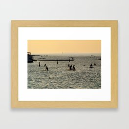 Padding through Lachine Framed Art Print