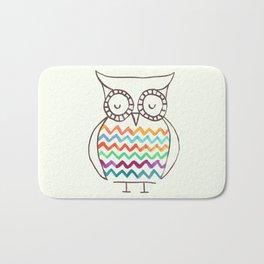 Chevron Owl Bath Mat