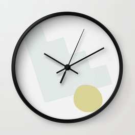 Abstract Shape Series - Stairstep Wall Clock