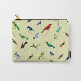 Yellow Birds Motif Seamless Pattern Carry-All Pouch