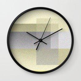 Yellow Shadows Wall Clock