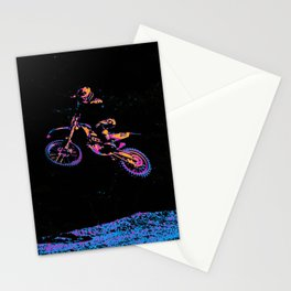 AIR TIME - Motocross Sports Art Stationery Cards