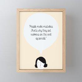 People make mistakes...  Framed Mini Art Print