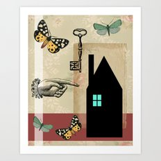 The House With The Turquoise Light On No.2 Art Print