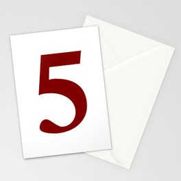 5 (MAROON & WHITE NUMBERS) Stationery Cards