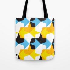 Blue, Yellow, Orange & Black Geometric Pattern Tote Bag