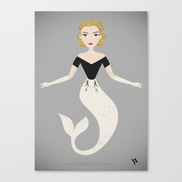 Mermaid Grace Kelly Canvas Print
