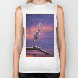 Mystical Heron Biker Tank