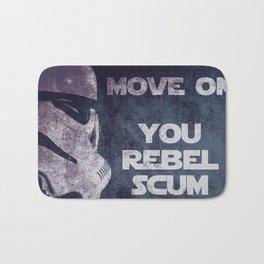 Storm Trooper Grunge Move Out Bath Mat