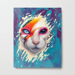A Cat Insane Metal Print