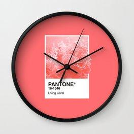 Pantone Series – Living Coral Wall Clock