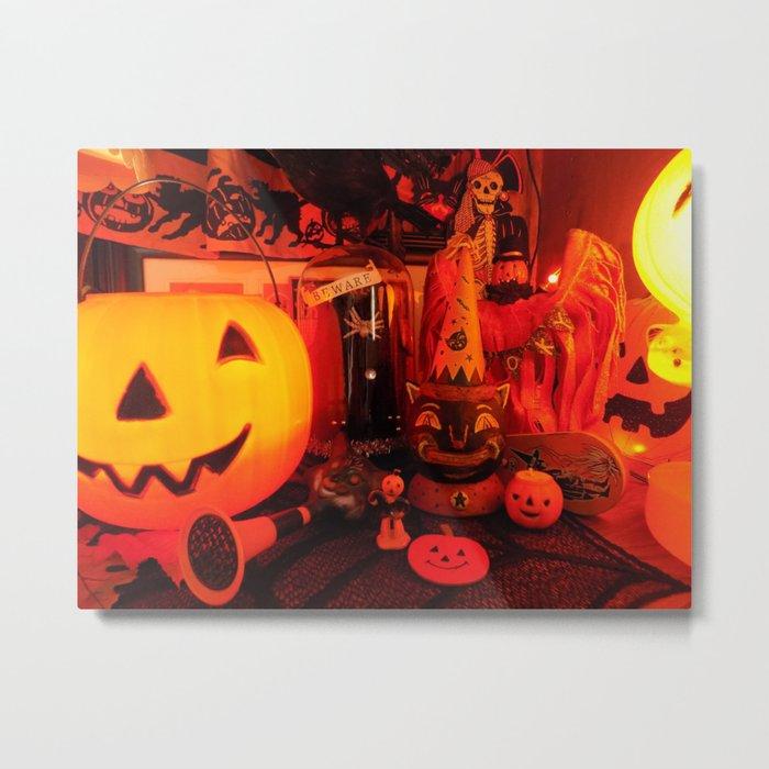 Vintage Halloween Magic Metal Print