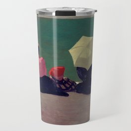 On the Beach - Sur la Plage by Félix Vallotton - Colorful Les Nabis Art Travel Mug