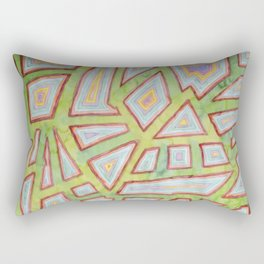 Map Pattern on Spring Green Rectangular Pillow