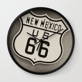 Route 66 sign in New Mexico. Wall Clock