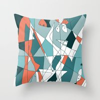 golf Throw Pillows featuring Golf by Carmen Navajas