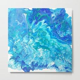 Aqua Ocean Blue Metal Print