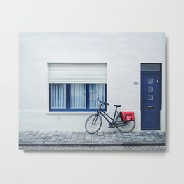 Blues & Bikes Metal Print
