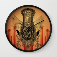 decorative Wall Clocks featuring Decorative clef by nicky2342