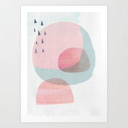 02 Pink_A3_flattened_no_border Society 6 Art Print