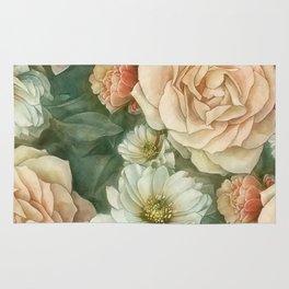 Floral rose pattern Rug