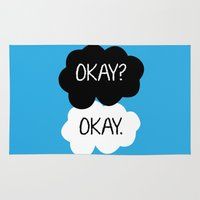 okay Area & Throw Rugs featuring Okay? Okay. by Kerrin  Rose