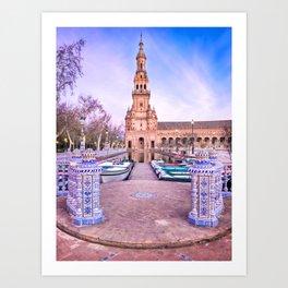 Plaza de España, Sevilla, Spain 1 Art Print