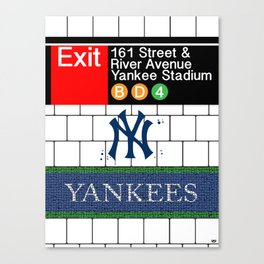 NYC Yankees Subway Canvas Print
