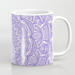 Violet Purple Mandala Detailed Ethnic Tribal Pattern Coffee Mug