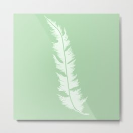 Green feather Metal Print