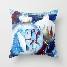 """Elephant Holiday"" Throw Pillow"