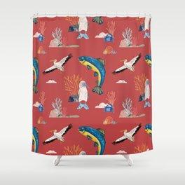 Fuerza de mar Shower Curtain