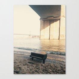 east river piano Canvas Print