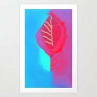 leaf Art Prints featuring leaf by Megan Spencer