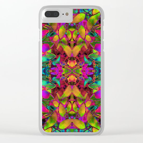 Fractal Floral Abstract G285 Clear iPhone Case