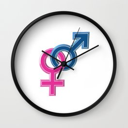 Female male coupled symbols Wall Clock
