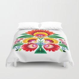Folk flowers Duvet Cover