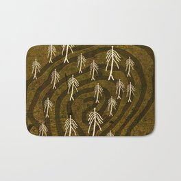 Ethnic 4 Canary Islands / Crowd in the Maze Bath Mat