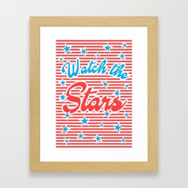 Watch the Stars (red version) Framed Art Print