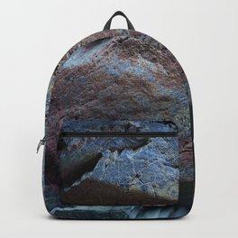 Natural Ocean Weathered Rock Texture Backpack