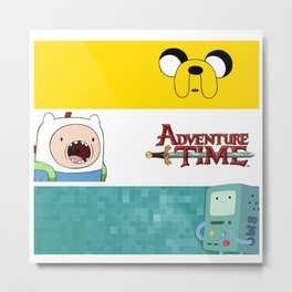 Jake, Finn and BMO Metal Print
