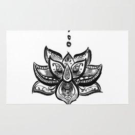 Lotus flower b/w Rug